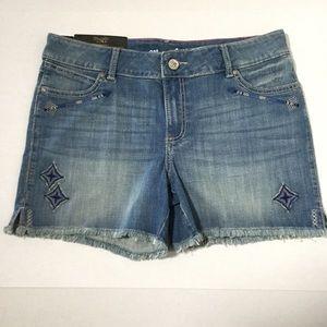 Wrangler retro Jean cut off shorts size 13/14
